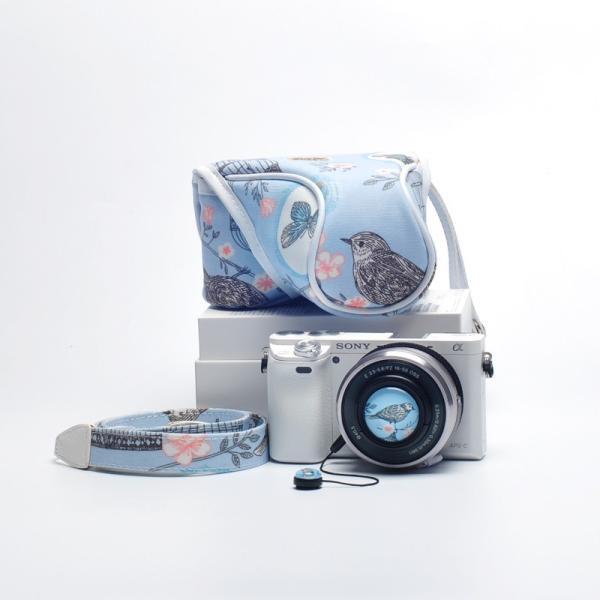 SONYソニーα5100/α5000用CANON キヤノンEOS 10/EOS M/M2用カメラケースポーチミラーレス 保護カバー/インナーポーチ/ストラップ付属【メール便不可】