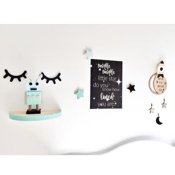 まつげウッドオブジェ 2個set ウォールステッカー 壁飾り ウッドインテリア 北欧雑貨  モノトーン ベビーキッズルーム chokuten-shop 02