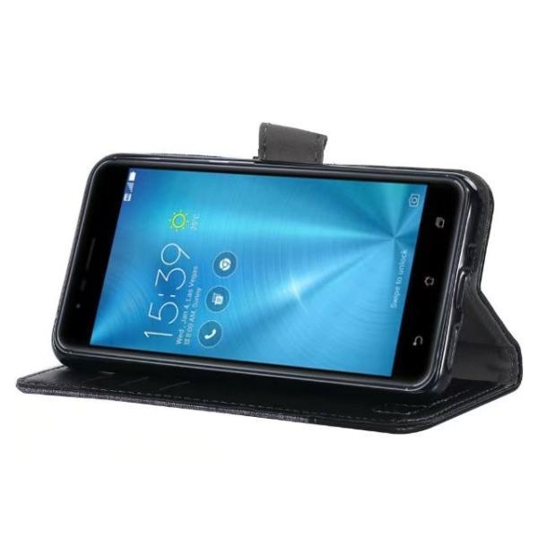 ASUS ZenFone Live ZB501KL用デニム生地スマホケース/カード収納付き/手帳型/ ポケット付き/ZenFone Live ZB501KL財布型保護カバー/マグネット横開き