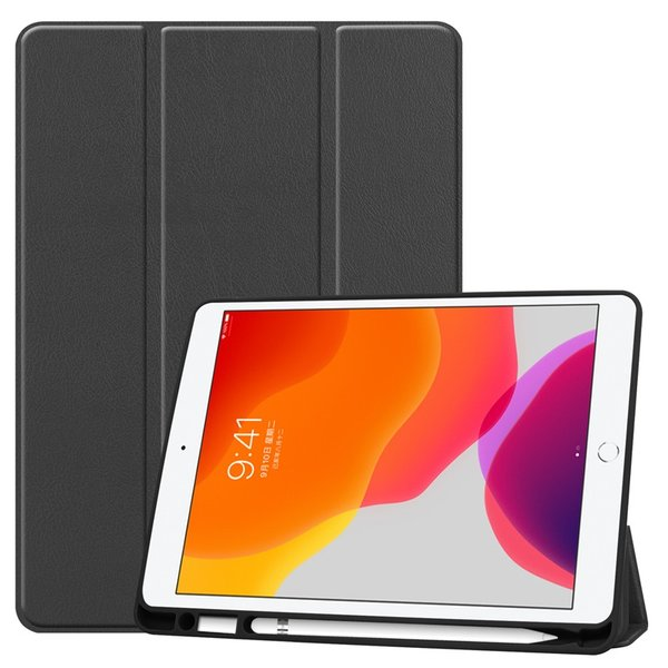 2019 iPad Air 10.5インチ/iPad Air3/2017 iPad Pro 10.5インチ通用手帳型レザーケース 三つ折り 便利なペンホルダー付き 横開き スタンドカバー