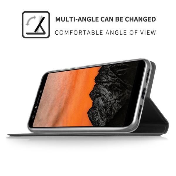 Zenfone 5 lite (ZC600KL)用手帳型レザーケース 背面カバー マグネット式 スタンド機能 カード収納付き 高級PUレザー スマホケース 軽量薄型 耐衝撃