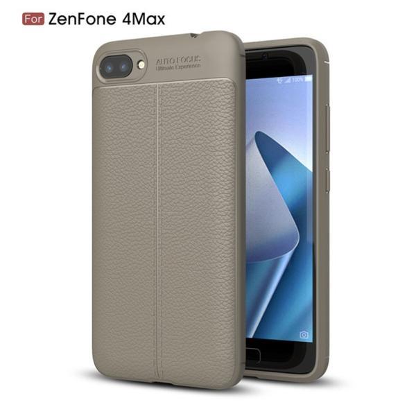 上質素材ZenFone 4 Max ZC520KL用レザー風ケース/耐衝撃 衝撃吸収 落下防止 レザー風保護カバー/ビジネス風背面カバー/TPUケース超軽量/手触り抜群