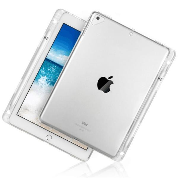 2019 iPad Air 10.5インチ/iPad Air3/2017 iPad Pro 10.5インチ通用ソフトケース シリコンカバー ペンホルダー付き TPU素材ケース 衝撃に強い 柔らかさクリア