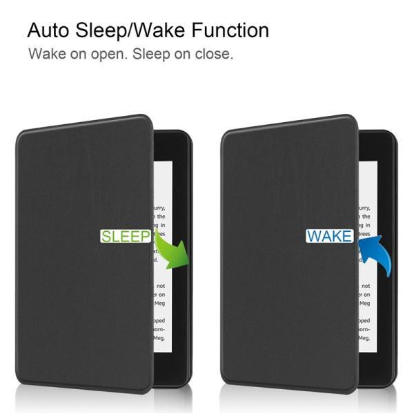 2018モデル Kindle Paperwhite4 7.0インチ用手帳型レザーケース 電子書 自動スリーブ 横開き|chokuten-shop|11
