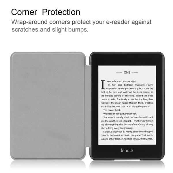 2018モデル Kindle Paperwhite4 7.0インチ用手帳型レザーケース 電子書 自動スリーブ 横開き|chokuten-shop|10