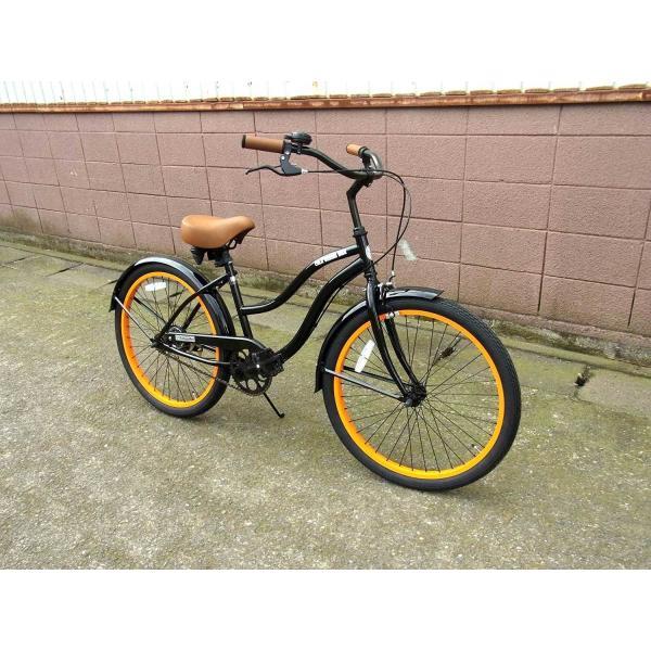 ビーチクルーザー サンタクルーズ ブラック 自転車 BEACH CRUISER SANTA CRUZ BLACK|choppers