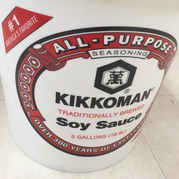 キッコーマン バケツ 逆輸入 19L 5ガロン 蓋つき 醤油 ポリバケツ kikkoman インテリア ディスプレイ Soysauce|choppers|02