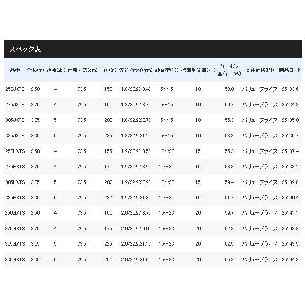 ≪'17年7月新商品!≫ シマノ ホリデースピン (振出) 335GXTS 〔仕舞寸法 79.5cm〕