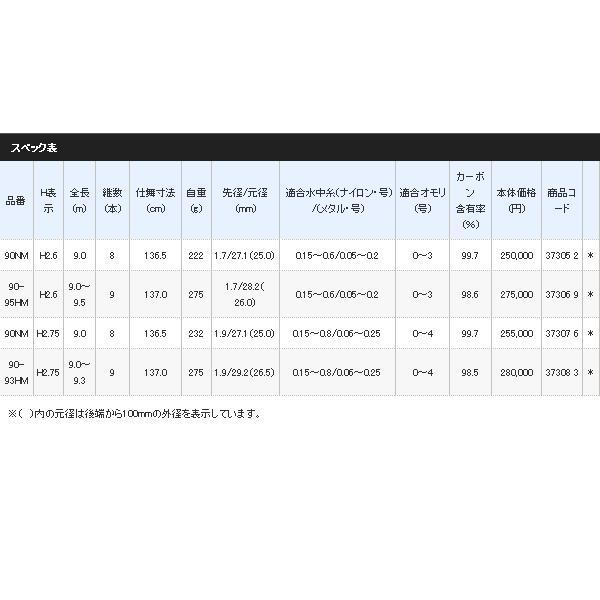 ≪'17年3月新商品!≫ シマノ スペシャル競(きそい)MI HM 90-95HM H2.6 〔仕舞寸法 137cm〕 【保証書付】