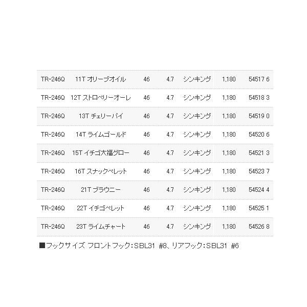 ≪'17年9月新商品!≫ シマノ カーディフ ダートヒート 46S/46HS TR-246Q 01T ウォータークリア 46mm 4.7g 【4個セット】