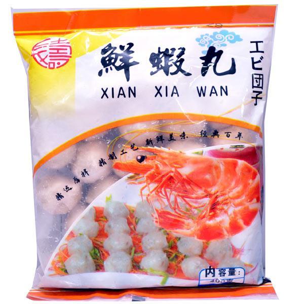 冷凍エビ魚団子鮮蝦丸400g(他の配送方法と同梱不可)
