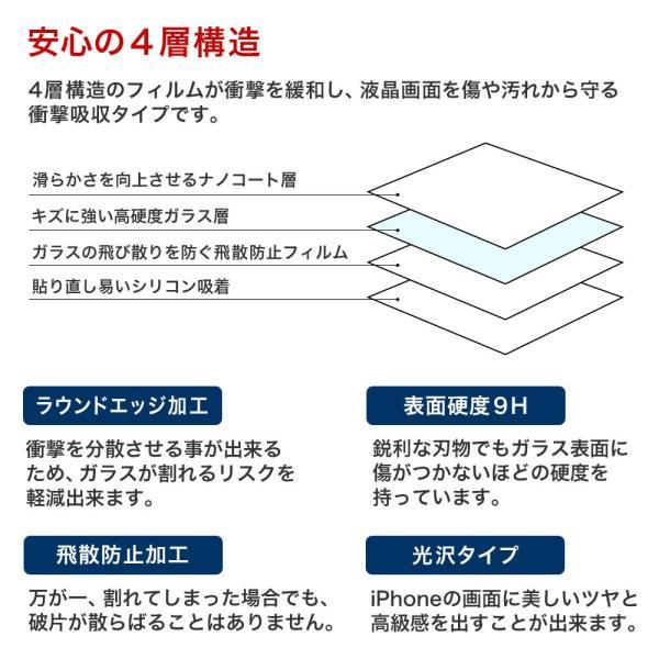 iPhone 保護フィルム ガラスフィルム ブルーライトカット 強化ガラス 9H iPhoneX iPhone10 iPhone8 iPhone7 Plus アイフォン スマホ 液晶保護シート|choupet|03