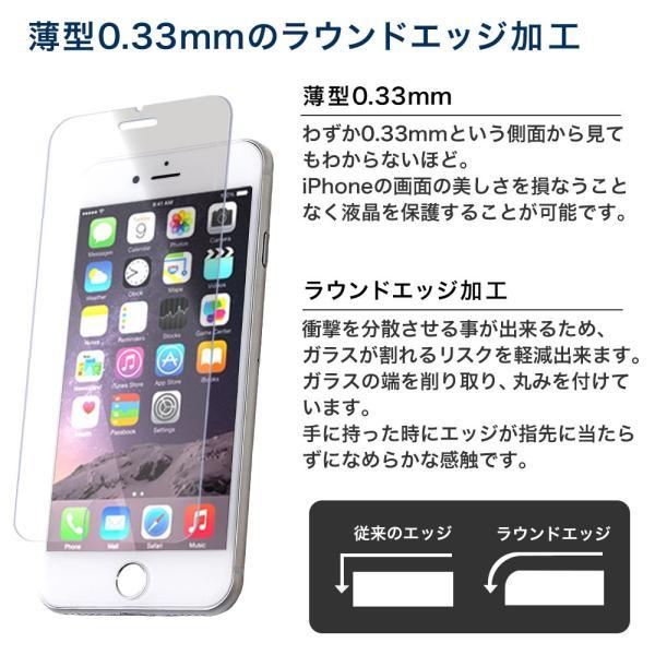 iPhone 保護フィルム ガラスフィルム ブルーライトカット 強化ガラス 9H iPhoneX iPhone10 iPhone8 iPhone7 Plus アイフォン スマホ 液晶保護シート|choupet|04