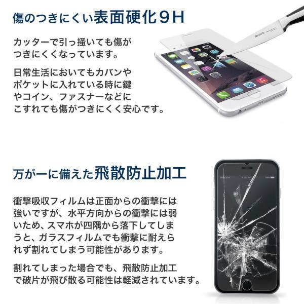 iPhone 保護フィルム ガラスフィルム ブルーライトカット 強化ガラス 9H iPhoneX iPhone10 iPhone8 iPhone7 Plus アイフォン スマホ 液晶保護シート|choupet|05