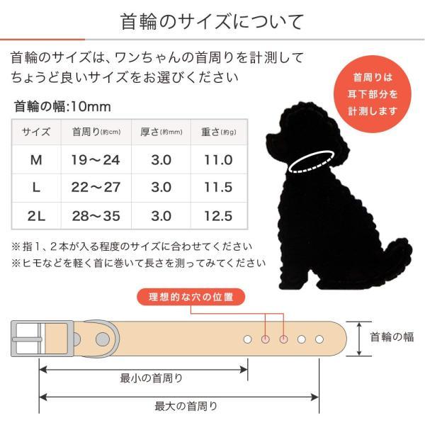 犬 首輪 犬の首輪 迷子札 名前入り ネームタグ 小型犬 革 革製 皮 本革 レザー 栃木レザー ヌメ革 おしゃれ かわいい カラー シンプル 10mm 名前入り|choupet|14
