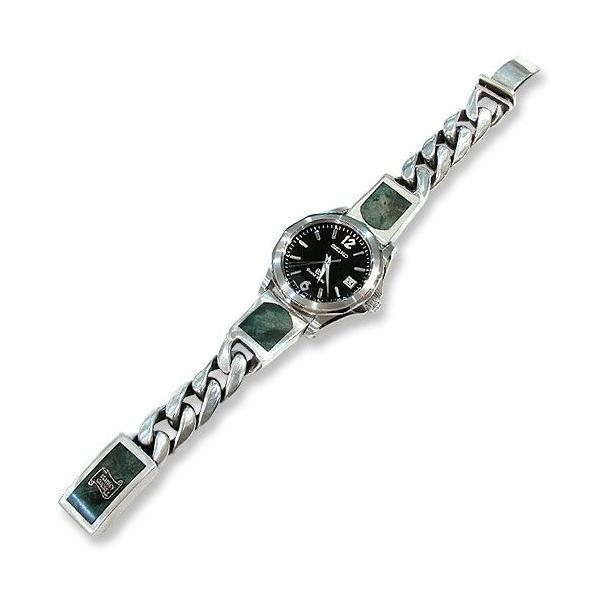 Classic Links Wood Inlaid Connector Watch Band w/Wood Inlaid Box Clip(クラシックリンクウッドコネクターウォッチバンドw/ウッドボックスクリップ)