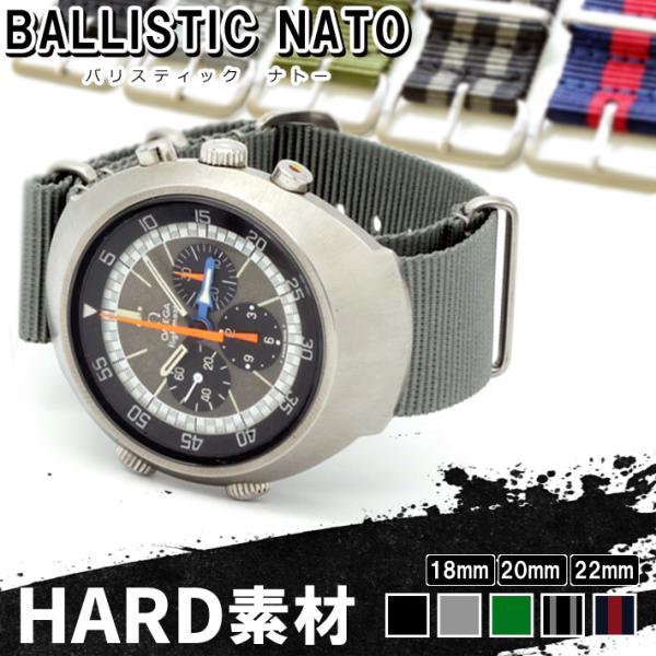 バネ棒付き 時計 ベルト バンド HDT バリスティック ナイロン NATOストラップ 18mm 20mm 22mm