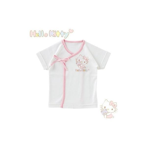 721773750ea9f ベビー服 赤ちゃん 服 ベビー 新生児肌着 女の子 新生児 出産祝い ギフト ハローキティ新生児短肌着