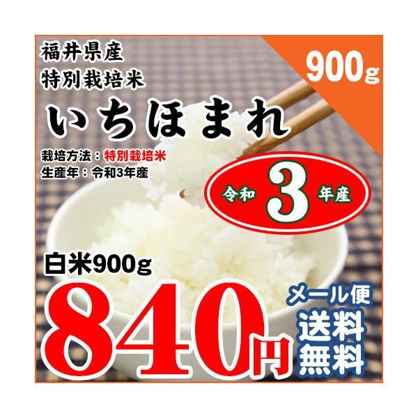 福井県 特別栽培米 いちほまれ 白米900g お試しメール便 令和3年産