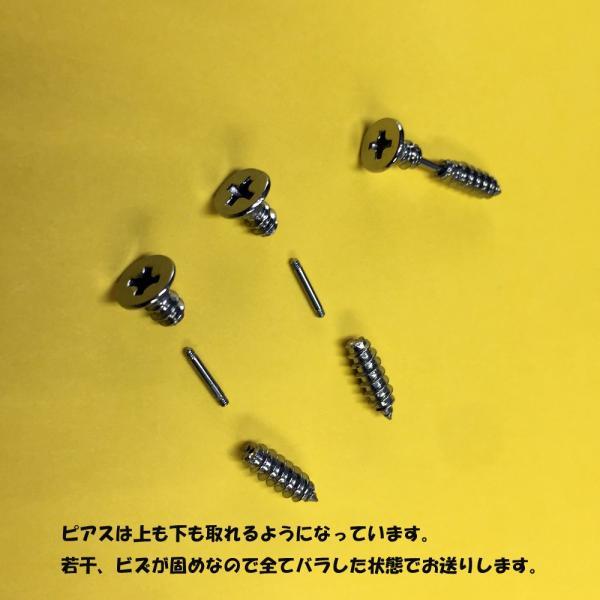 ピアス レディース アクセサリー メンズ ネジ シルバー ゴールド ブルー レインボー ネジピアス 2個セット ネジ型ピアス ボディピアス ネジモチーフ 個性的|chura-net|07