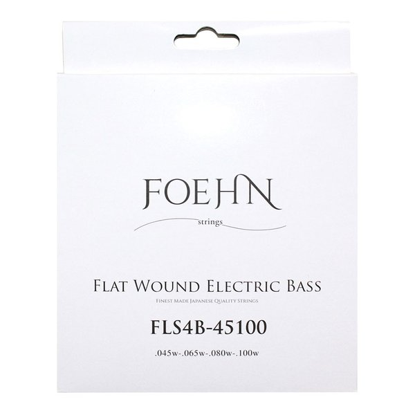 FOEHN FLS4B-45100 Flat Wound Electric Bass Strings Regular Light 45-100 フラットワウンドエレキベース弦|chuya-online