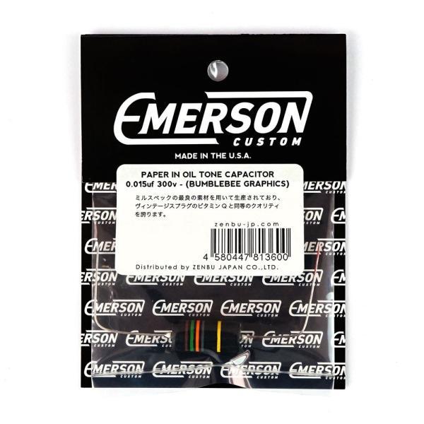 Emerson Custom BUMBLEBEE PAPER IN OIL TONE CAPACITORS 0.015uF/300V コンデンサ ギターパーツ|chuya-online