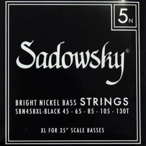 SADOWSKY SBN45BXL Black ブラックラベル 5弦ベース弦|chuya-online