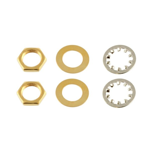 ALLPARTS Electronics 4003 Gold Nuts and Washers for USA Pots and Jacks ナットワッシャー