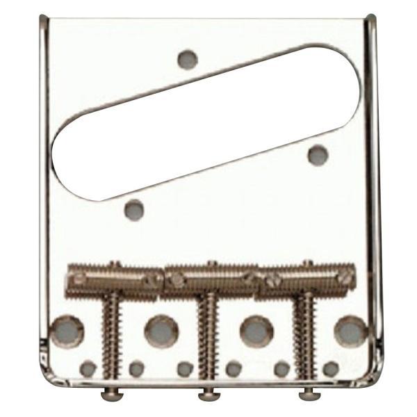 ALLPARTS BRIDGE 6012 Left Handed Nickel Vintage 3 Saddle Bridge for Telecaster レフトハンド用 テレキャスターブリッジ