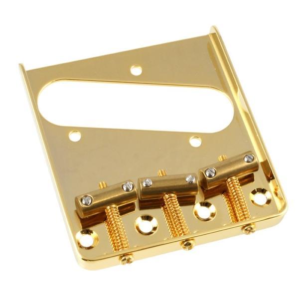 ALLPARTS BRIDGE 6015 Gold Vintage Compensated Saddle Bridge for Telecaster テレキャスターブリッジ
