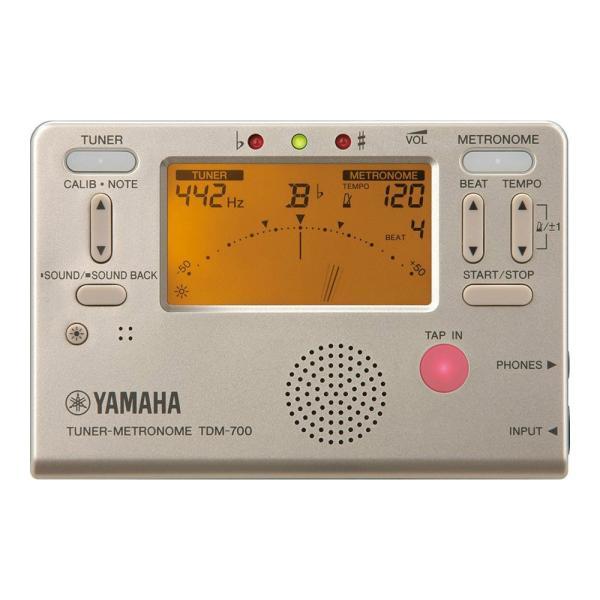 ヤマハ チューナー メトロノーム ゴールド YAMAHA TDM-700G|chuya-online