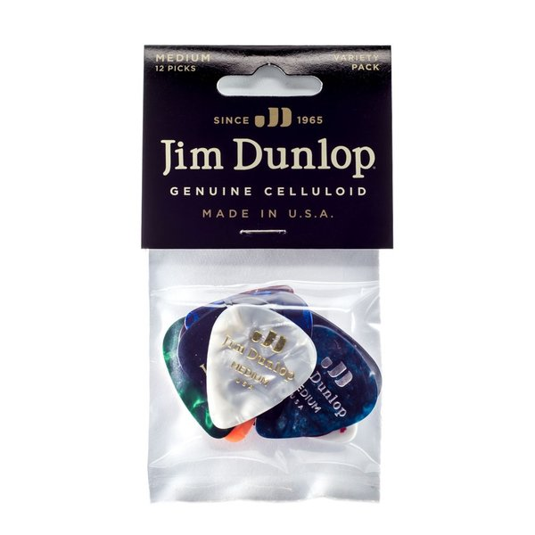 JIM DUNLOP PVP106 VARIETY CELLULOID MEDIUM VARIETY PACK ピック 12枚入り