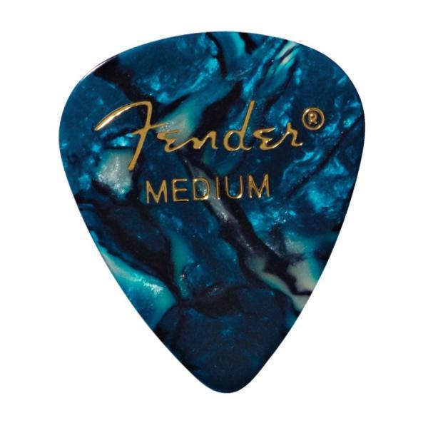Fender 351 Shape Ocean Turquoise Medium ギターピック 12枚入り