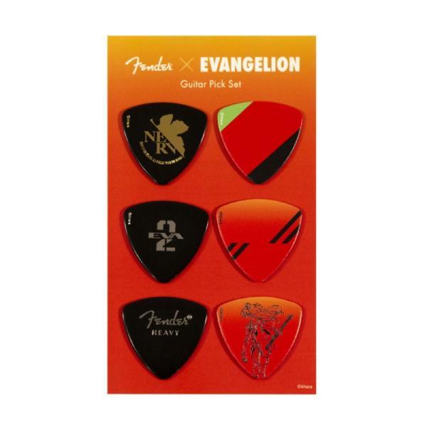 FenderEvangelionASUKAPickSetエヴァンゲリオンアスカギターピック6枚セット