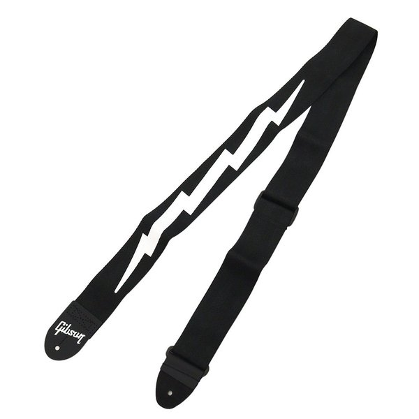 GIBSONASGSBL-10/BKライトニングボルトギターストラップ