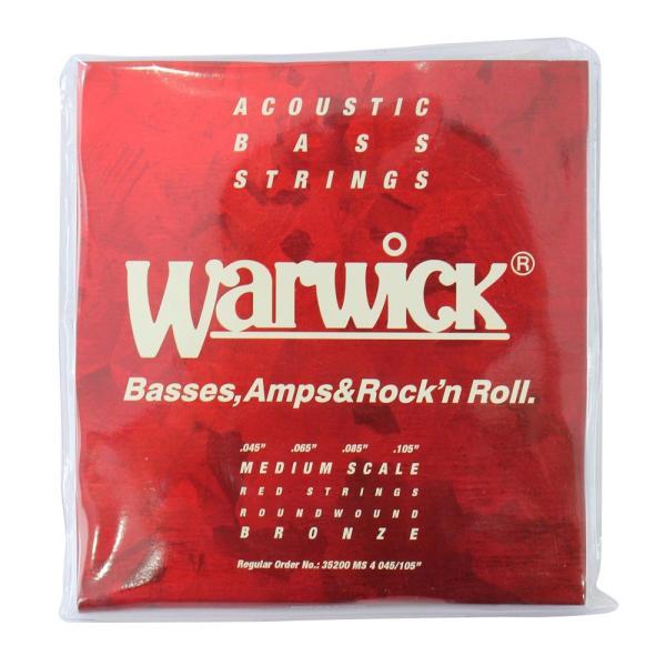 WARWICK 35200 MS4 RED BRONZE Acoustic 4-string Medium scale 045-105 アコースティックベース弦|chuya-online