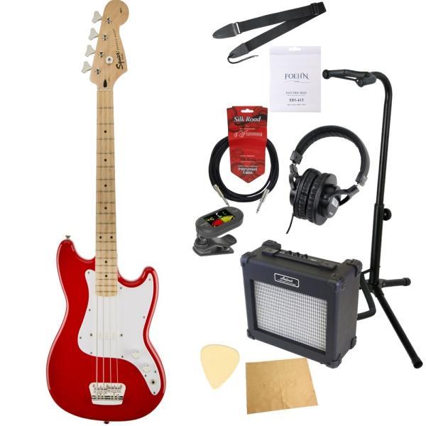 エレキベース入門10点セット Squier Bronco Bass TRD エレキベース