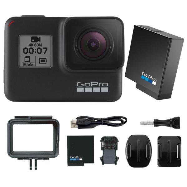 GoPro HERO7 Black ウェアラブルカメラ + 純正バッテリー1個付き セット