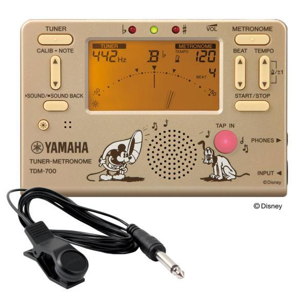 YAMAHA TDM-700DMK ディズニー ミッキーマウス チューナー メトロノーム FA-01 チューナー用コンタクトマイク付き 2点セット chuya-online