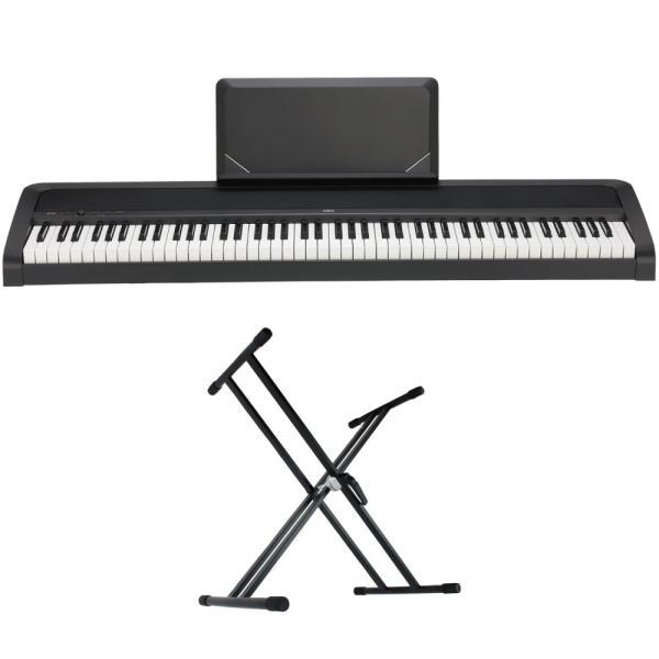 KORG B2N BK 電子ピアノ Dicon Audio KS-020 X型キーボードスタンド 2点セット