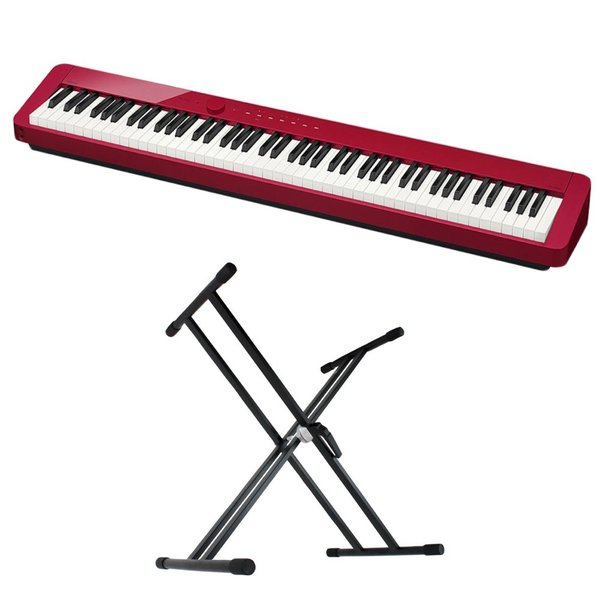 CASIO Privia PX-S1000 RED 電子ピアノ キーボードスタンド 2点セット [鍵盤 Aset]