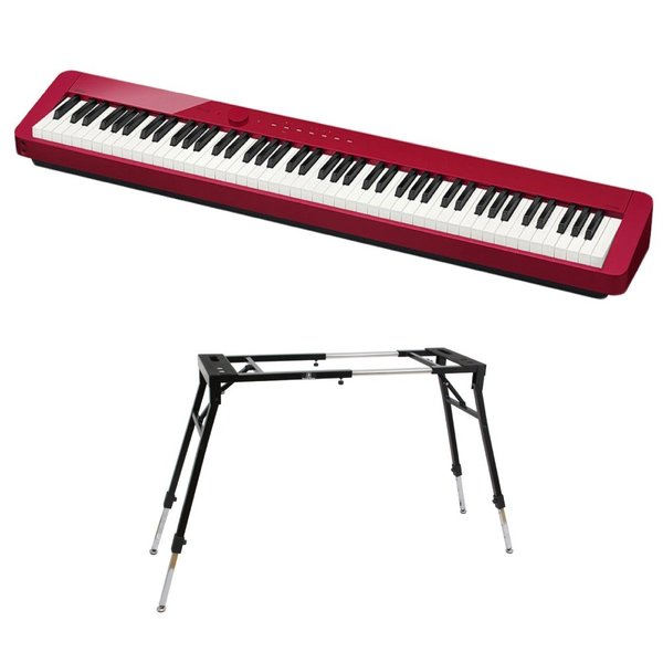 CASIO Privia PX-S1000 RED 電子ピアノ キーボードスタンド 2点セット [鍵盤 Dset]