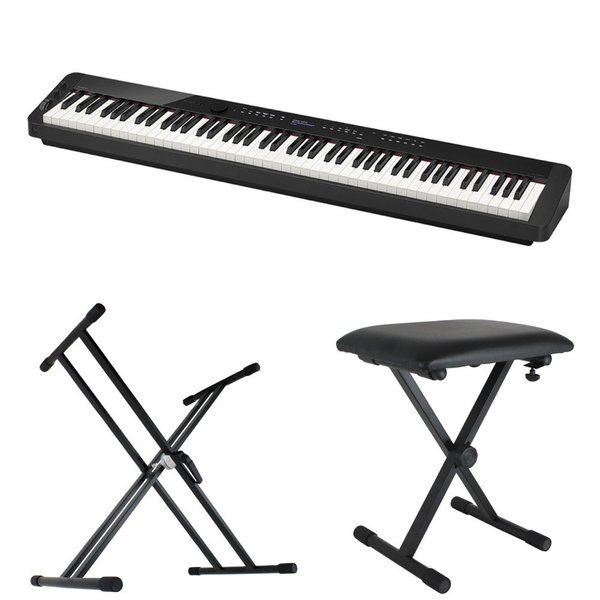 CASIO Privia PX-S3000 BK 電子ピアノ キーボードスタンド キーボードベンチ 3点セット [鍵盤 Bset]
