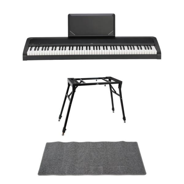 KORG B2N BK 電子ピアノ Dicon Audio 4本脚型 キーボードスタンド ピアノマット(グレイ)付きセット