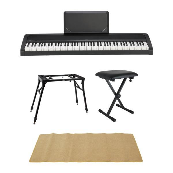 KORG B2N BK 電子ピアノ Dicon Audio 4本脚型 キーボードスタンド ベンチ ピアノマット(クリーム)付きセット