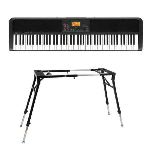 KORG XE20 DIGITAL ENSEMBLE PIANO 88鍵盤 自動伴奏機能付き 電子ピアノ キーボードスタンド 2点セット [鍵盤 Dset]