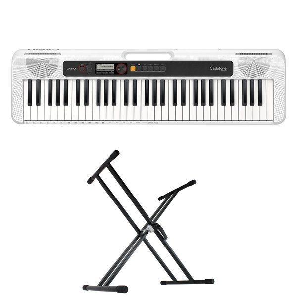 CASIO CT-S200 WE Casiotone 61鍵盤 キーボード キーボードスタンド 2点セット [鍵盤 Aset]