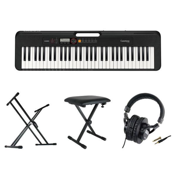 CASIO CT-S200 BK Casiotone 61鍵盤 キーボード ブラック キーボードスタンド キーボードベンチ ヘッドホン 4点セット [鍵盤 Cset]
