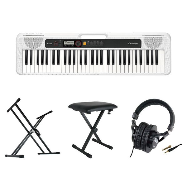 CASIO CT-S200 WE Casiotone 61鍵盤 キーボード ホワイト キーボードスタンド キーボードベンチ ヘッドホン 4点セット [鍵盤 Cset]