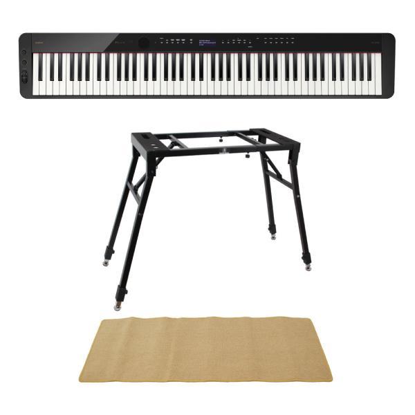 CASIO Privia PX-S3100 BK 電子ピアノ キーボードスタンド ピアノマット(クリーム)付きセット